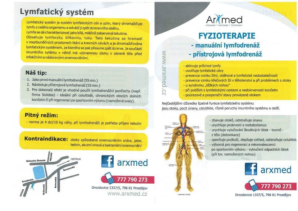 Lymfatický systém - vyšetření a léčba Prostějov
